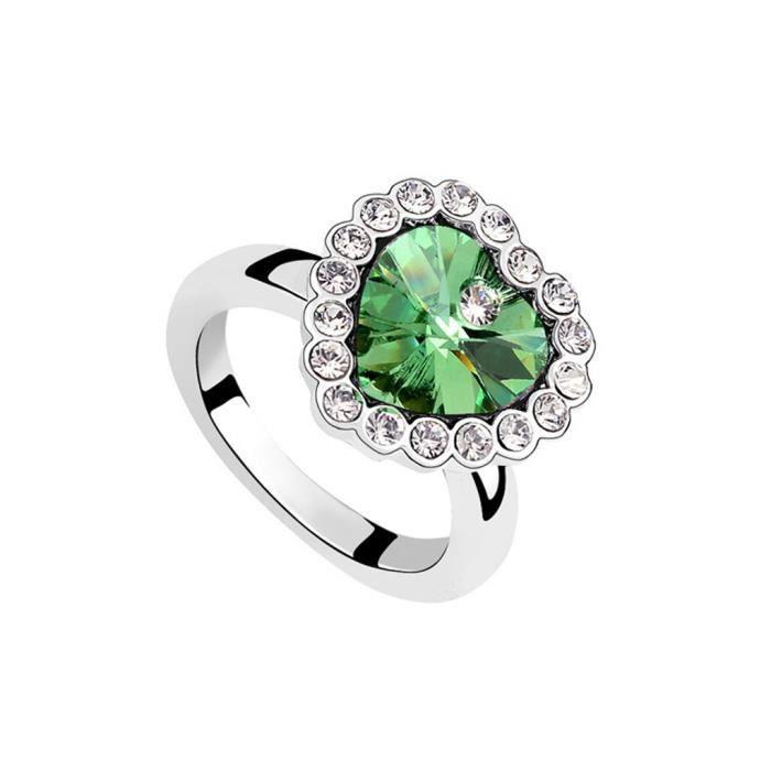 Coeur de l 39 anneau ternit oceancrystal achat vente bague anneau anneau de l 39 ternit m tal - Symbole de l eternite ...