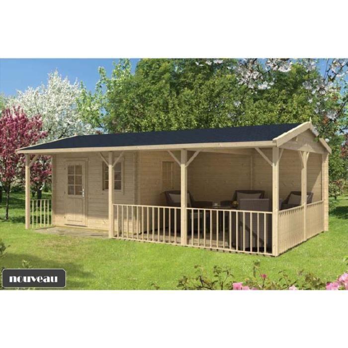 chalet en bois bureau de jardin achat vente abri. Black Bedroom Furniture Sets. Home Design Ideas