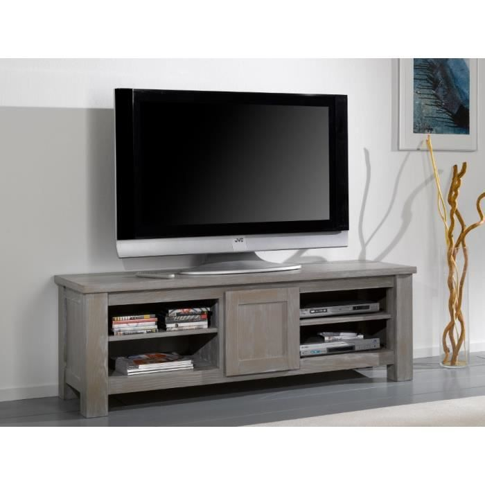 meuble tv wilda en 160 pin massif taupe achat vente meuble tv meuble tv wilda en 160 pin. Black Bedroom Furniture Sets. Home Design Ideas