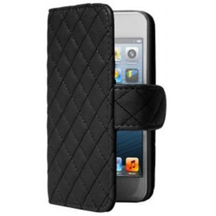 Iphone 5 5s etui portefeuille clapet matelass achat for Etui housse iphone 5