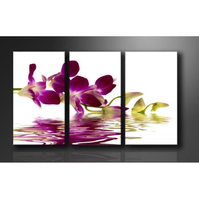 tableau triptyque imprim 160x90 cm orchidee achat. Black Bedroom Furniture Sets. Home Design Ideas