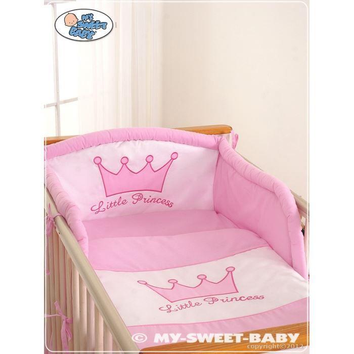parure de lit b b little princess rose avec to achat vente parure de lit b b. Black Bedroom Furniture Sets. Home Design Ideas