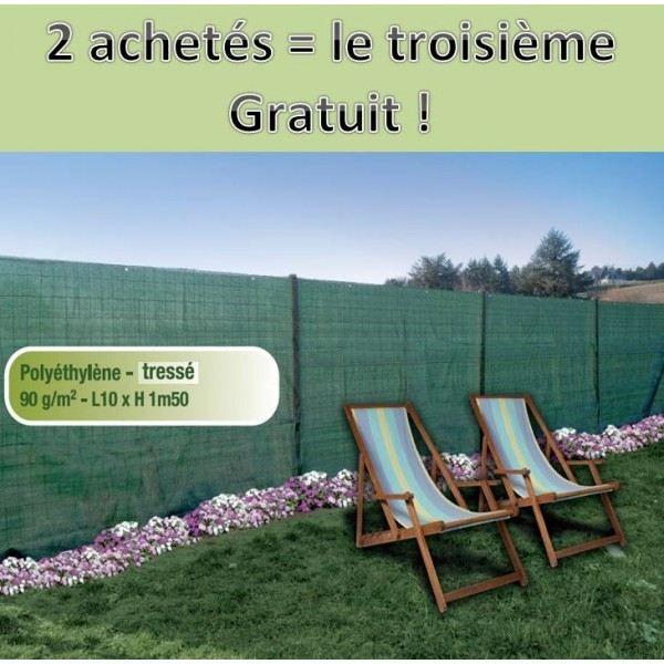 Brise Vue Vert 1,5x10m Classique Achat / Vente clôture grillage