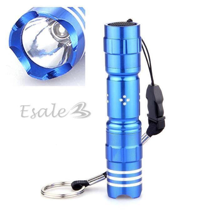 mini bleu le de poche torche 224 led eclairage blanc