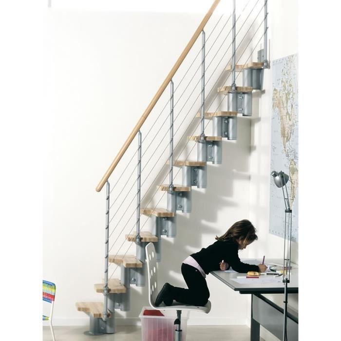 Escalier gain de place kya de chez fontanot largeur 57cm hauter 231 280cm - Changer escalier de place ...