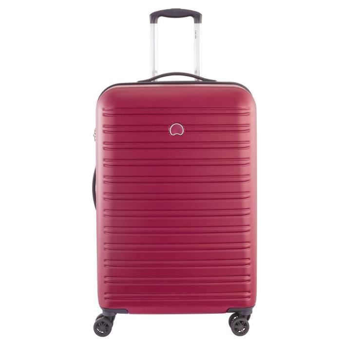 valise rigide trolley moyenne segur delsey ref del40542 rouge 70 cm rouge achat vente valise. Black Bedroom Furniture Sets. Home Design Ideas