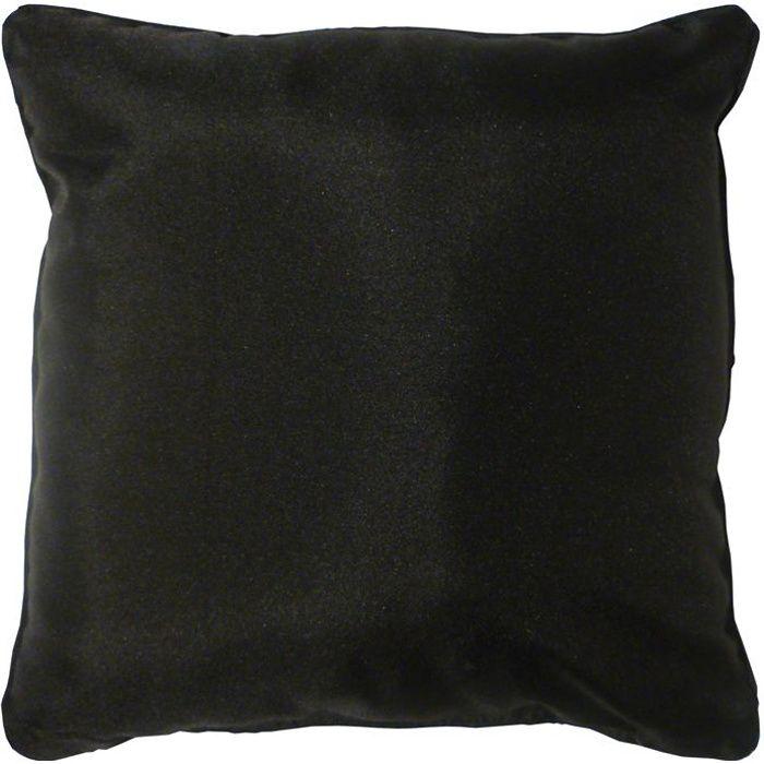 coussin 60x60 essentiel noir achat vente coussin cdiscount. Black Bedroom Furniture Sets. Home Design Ideas