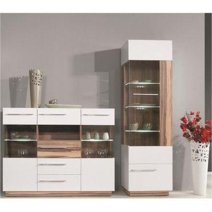 vaisselier design 2 portes 3 tag res blanc et achat. Black Bedroom Furniture Sets. Home Design Ideas