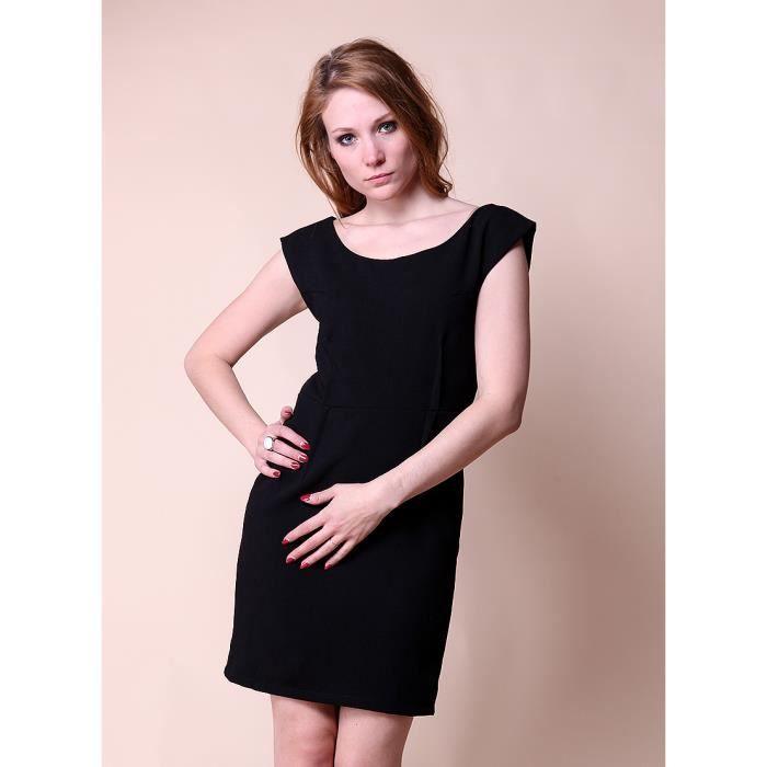 follimi robe classique noir noir achat vente robe. Black Bedroom Furniture Sets. Home Design Ideas