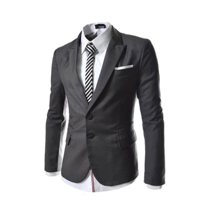 Costume homme costume gris fonc gris achat vente costume tailleur cdiscount - Costume gris fonce ...