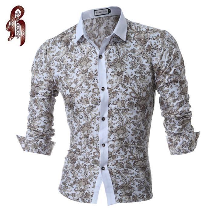 2017 hommes chemise hommes chemise impression en couleur slim square collar chemise manches. Black Bedroom Furniture Sets. Home Design Ideas