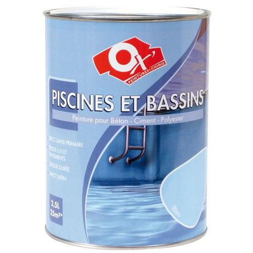 peinture piscine et bassin 2 5 l bleu achat vente peinture vernis cdiscount. Black Bedroom Furniture Sets. Home Design Ideas