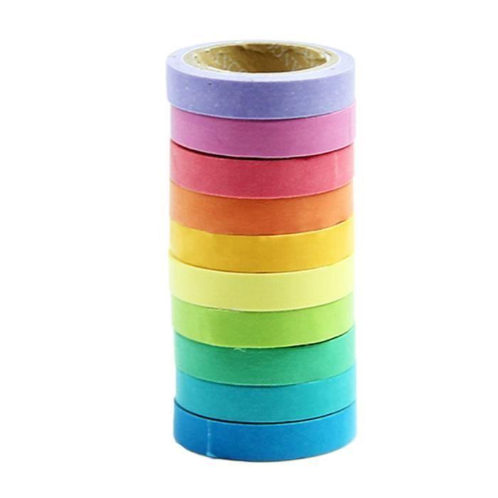 10pcs papier collant ruban de masquage d coratif adh sif for Rouleau de papier adhesif decoratif