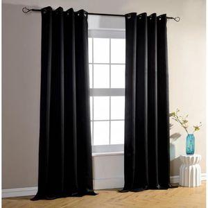 rideaux velours achat vente rideaux velours pas cher cdiscount. Black Bedroom Furniture Sets. Home Design Ideas