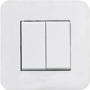 plaque interrupteur legrand mosaic achat vente plaque. Black Bedroom Furniture Sets. Home Design Ideas