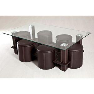 table basse avec pouffe achat vente table basse avec pouffe pas cher soldes cdiscount. Black Bedroom Furniture Sets. Home Design Ideas