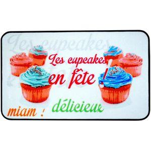 Tapis cuisine design achat vente tapis cuisine design - Tapis de cuisine cupcake ...