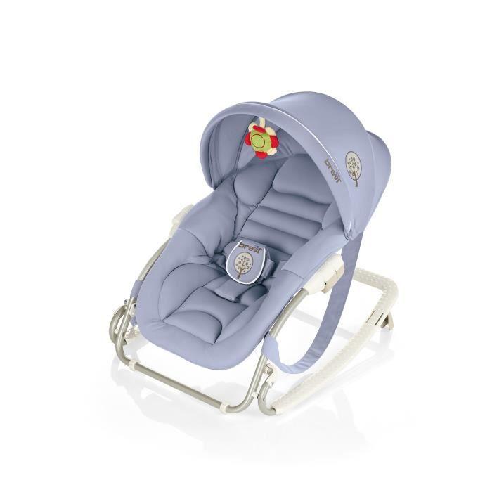 brevi transat gaia avec capote bleu gris bleu gris achat vente transat balancelle