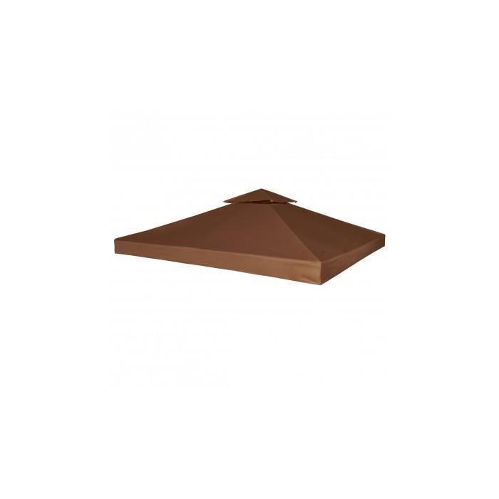 Toile de rechange pour tonnelle marron 270 g m achat for Toile pour tonnelle de jardin