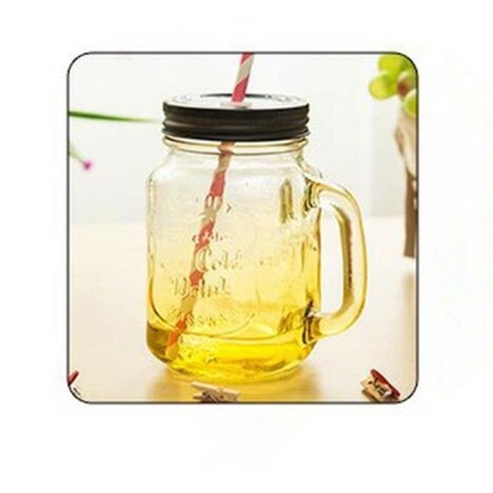 masan jar gobelet avec paille mr amoureux. Black Bedroom Furniture Sets. Home Design Ideas