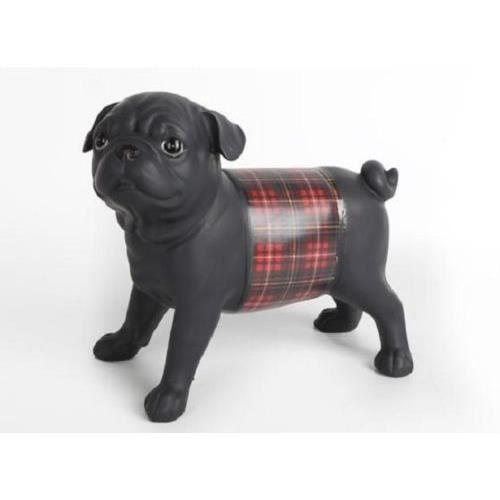 Super prix statuette de chien carlin en r sine pour for Decoration chien resine