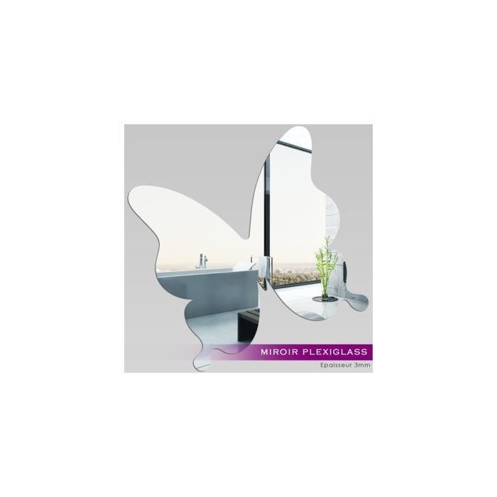 Miroir plexiglass acrylique papillon 1 ref mir 023 for Miroir qui s accroche a la porte
