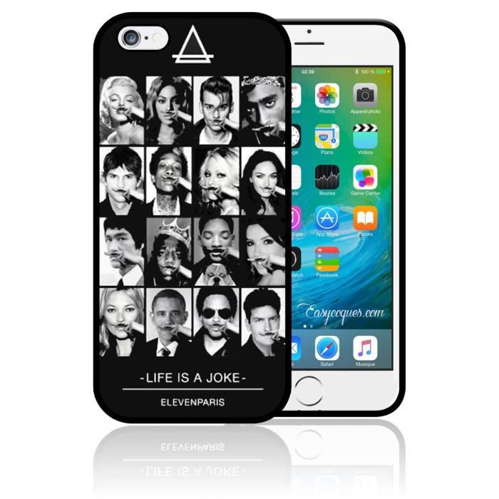 telephonie accessoires portable gsm coque iphone  s star swag eleven paris life is a f auc