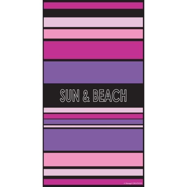 drap de plage 90x160 cm chic fuschia achat vente serviette de plage cdiscount. Black Bedroom Furniture Sets. Home Design Ideas