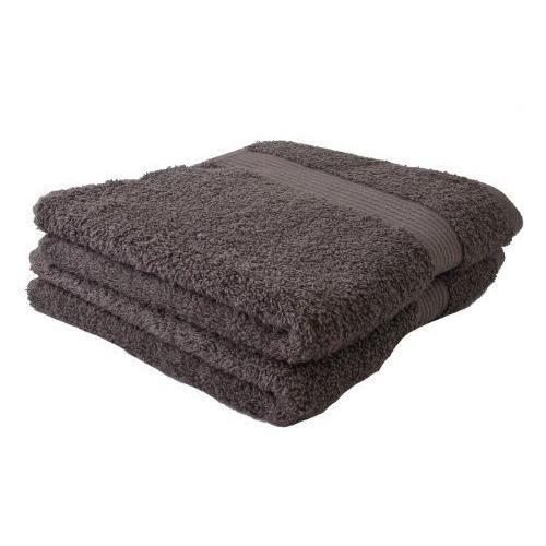 G zze lot de 2 serviettes de toilette anthracites 50x100 cm 100 coton excellente qualit for Serviette de toilette haute qualite