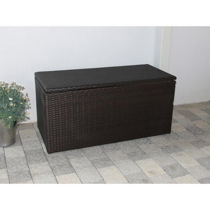 banc de rangement avec coussin romv 118 cm coloris brun achat vente banc cdiscount. Black Bedroom Furniture Sets. Home Design Ideas