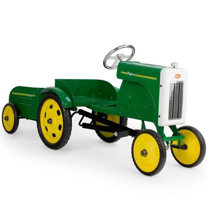 voiture enfant tracteur pdales et sa remorque