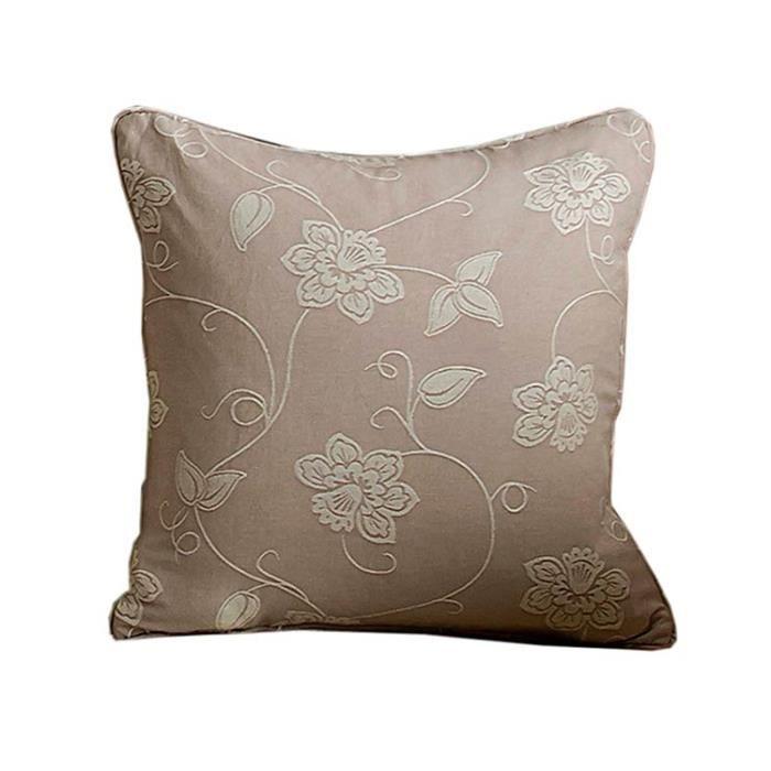housse de coussin beige jonquille 45 x45 cm achat vente housse de coussin cdiscount. Black Bedroom Furniture Sets. Home Design Ideas