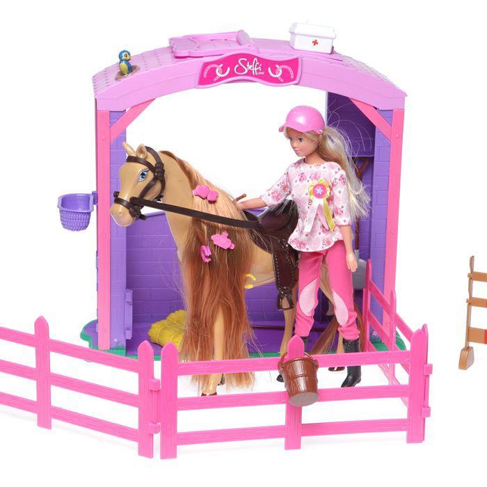Poup e steffi love avec son cheval dans son curie achat - Jeux de barbie avec son cheval ...