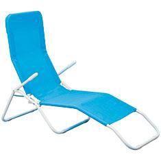 Transat pliant bleu azur achat vente chaise longue - Transat pliant jardin ...