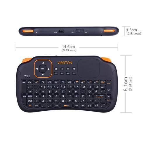 clavier s1 mini 2 4 ghz sans fil avec pav tactile pour. Black Bedroom Furniture Sets. Home Design Ideas
