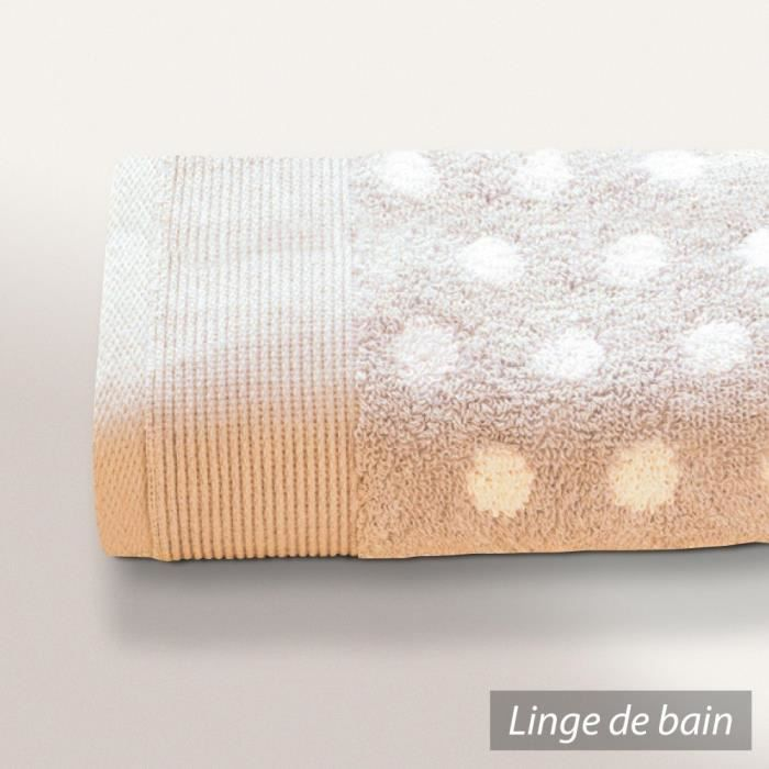 serviette invit 33x50 cm domino beige 550 g m2 achat vente serviettes de bain cdiscount. Black Bedroom Furniture Sets. Home Design Ideas