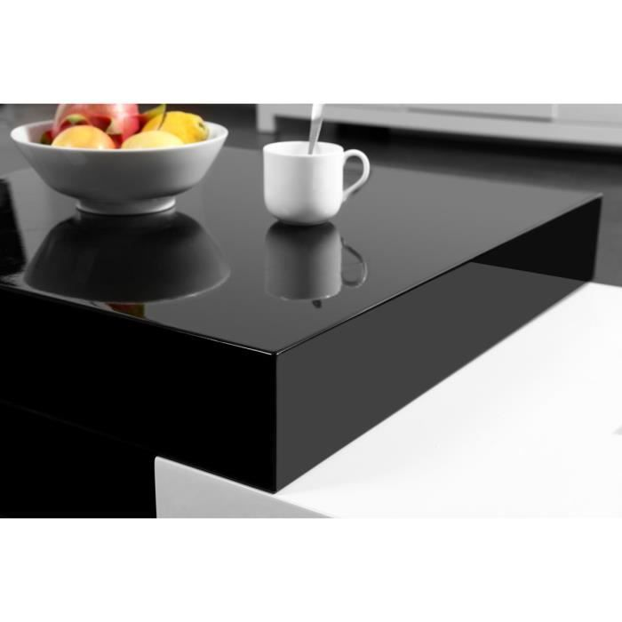Miliboo table basse design laqu e extensible achat - Table laquee extensible ...