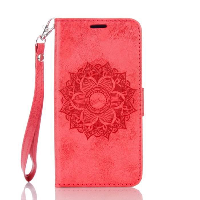 Rouge etui housse pour samsung galaxy grand prime sm for Housse samsung galaxy grand prime