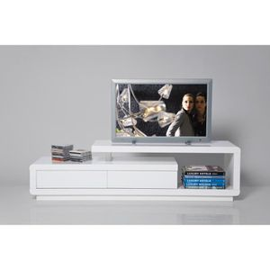 Meuble tv 170 cm achat vente meuble tv 170 cm pas cher for Meuble tv 100 cm blanc laque