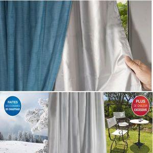 rideaux thermique achat vente rideaux thermique pas cher cdiscount. Black Bedroom Furniture Sets. Home Design Ideas
