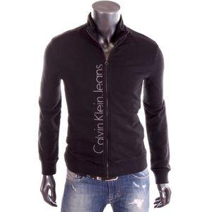 GILET - CARDIGAN Calvin Klein - Gilet zippé noir …
