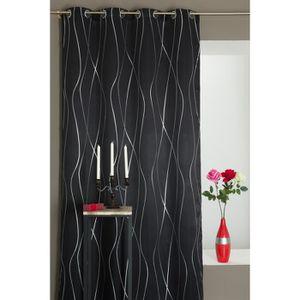 double rideaux avec motifs argent achat vente double rideaux avec motifs argent pas cher. Black Bedroom Furniture Sets. Home Design Ideas
