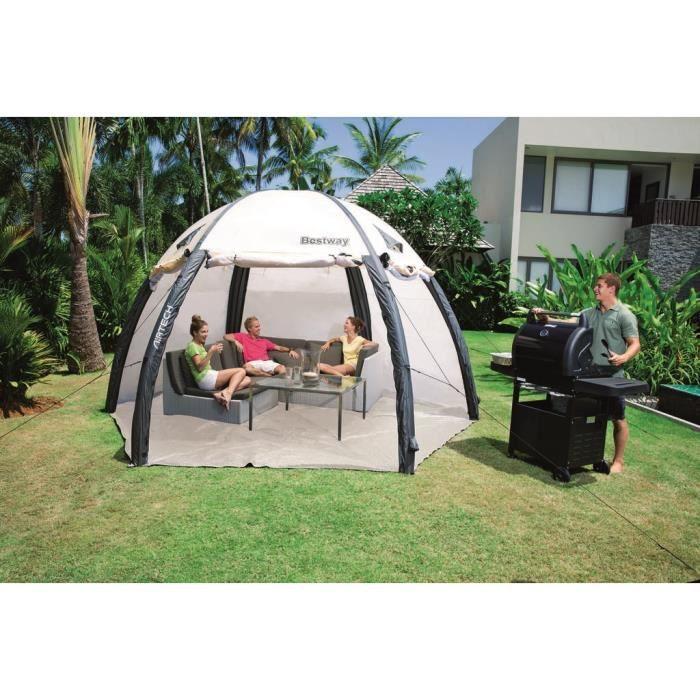 Bestway spa dome 485x250cm achat vente piscine spa for Dome piscine