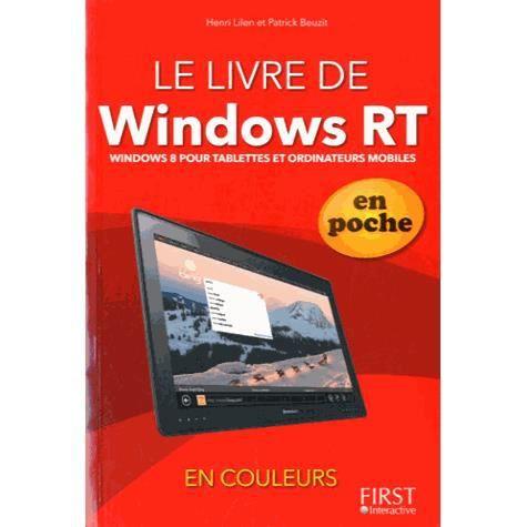 livre de windows rt en poche achat vente livre henri lilen beuzit interactive