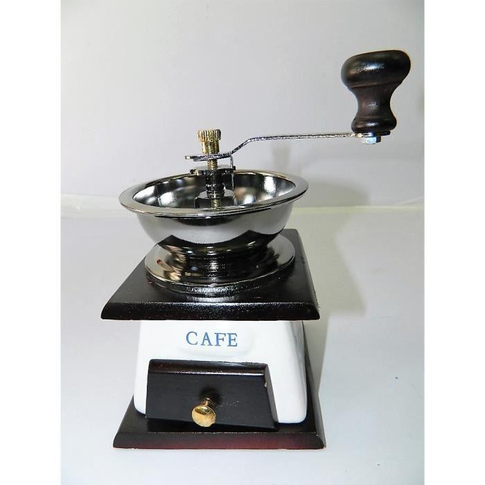 moulin caf manuel vintage en c ramique rustique bois. Black Bedroom Furniture Sets. Home Design Ideas