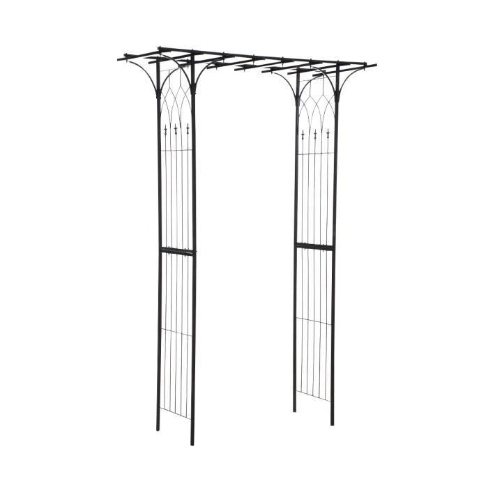 clp rosiers pergola mailand en fer forg environ 150 x 50 cm hauteur environ 240 cm achat. Black Bedroom Furniture Sets. Home Design Ideas