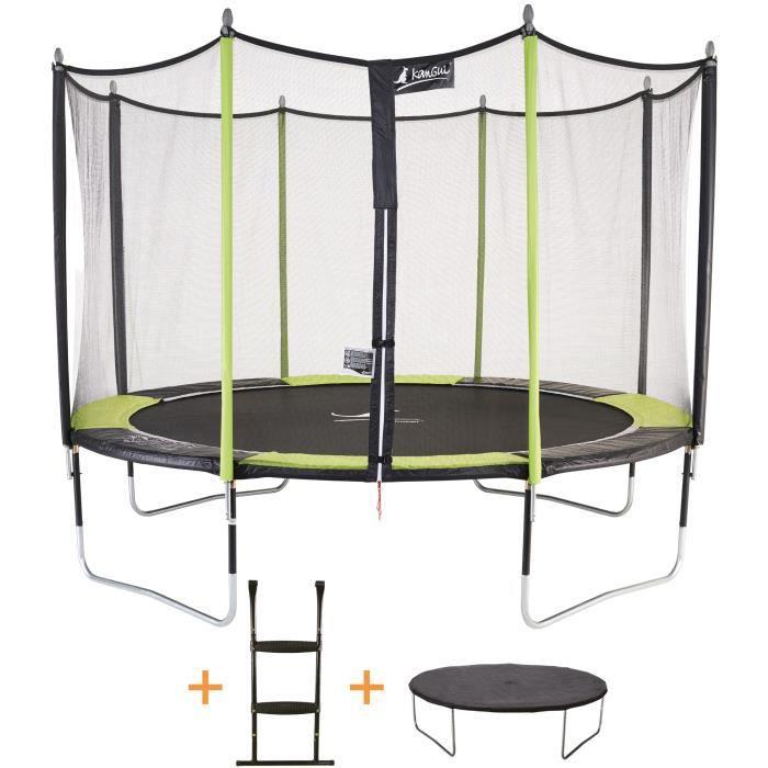 kangui trampoline 366 cm filet echelle b che de protection jumpi pop achat vente. Black Bedroom Furniture Sets. Home Design Ideas