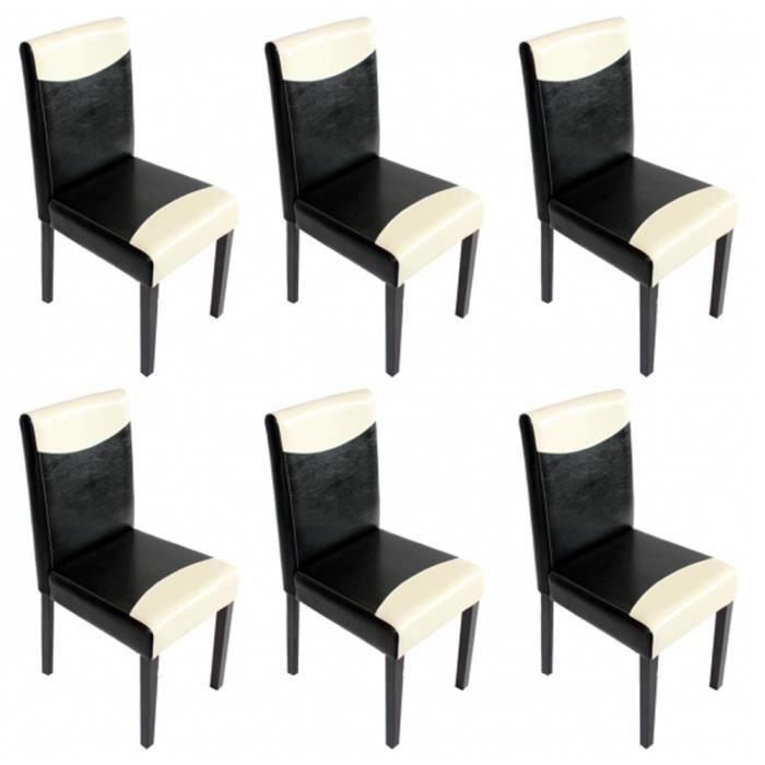 Lot de 6 chaises de salle manger littau en pu achat for Lot de 6 chaises de salle a manger
