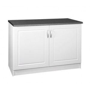 Meuble bas de cuisine blanc laque achat vente meuble - Meuble bas de cuisine 120 cm ...