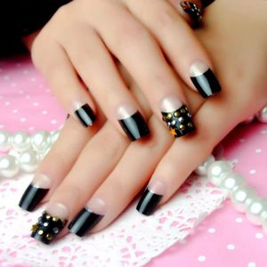 faux ongles noir achat vente faux ongles noir pas cher cdiscount. Black Bedroom Furniture Sets. Home Design Ideas